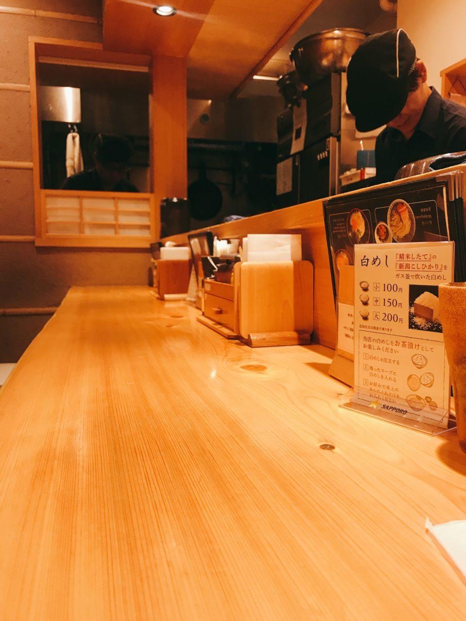 焼きあご塩らー麺 たかはし上野店 店内